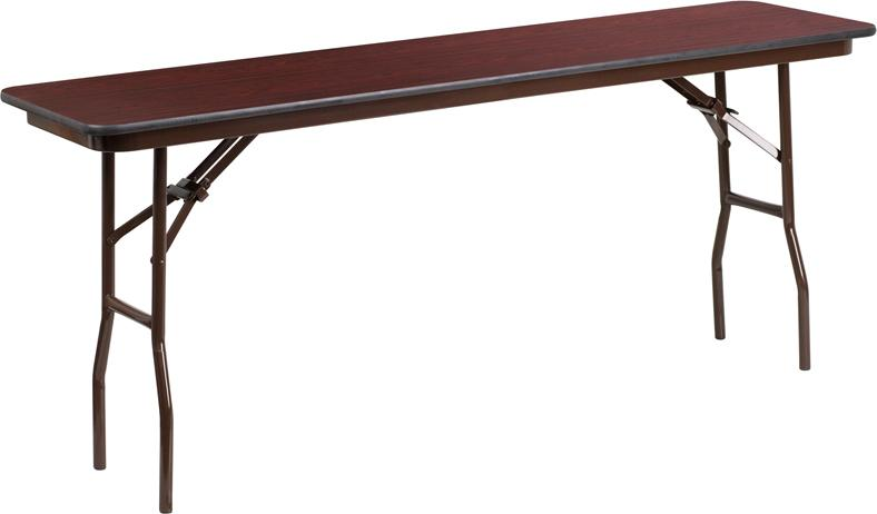 6-Foot High Pressure Mahogany Laminate Folding Training Table