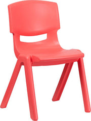 Plastic Stackable School Chair with 15.5'' Seat Height
