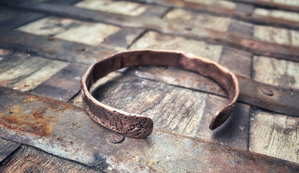 Cholla Copper Bangle - Small