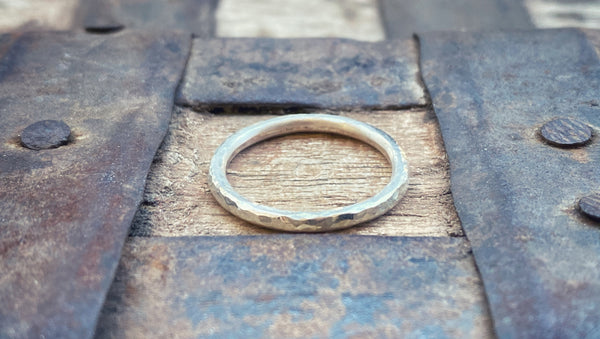 Stackable Hammered Ring