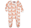 ORGANIC FOOTED ROMPER -Pink Elephant
