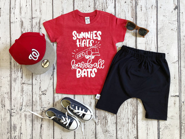 Sunnies, Hats, and Baseball Bats baseball tee