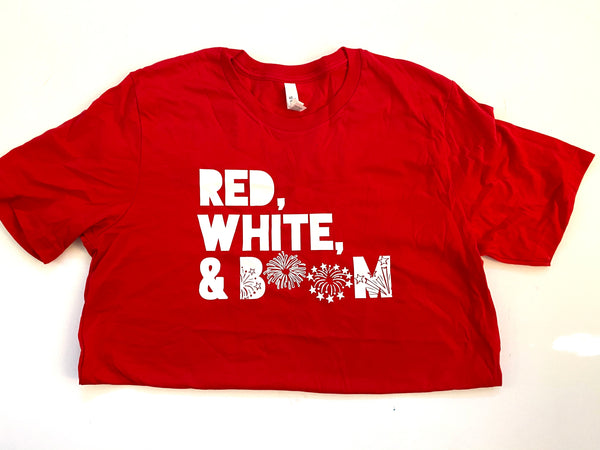 Adult L Red White Boom RTS tee