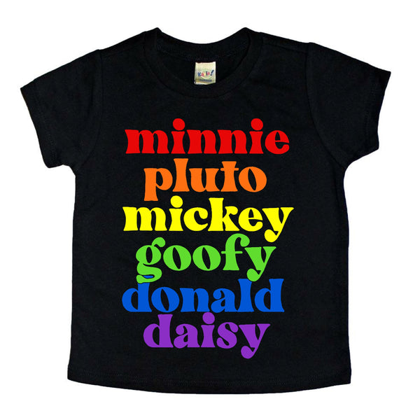 Rainbow Mouse Friends tee