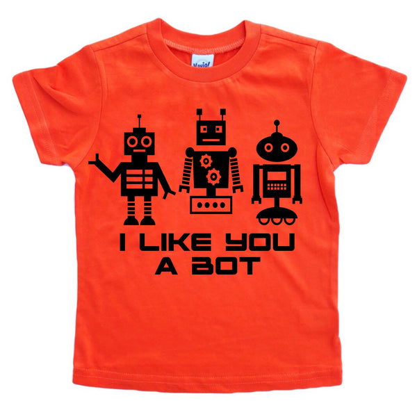 I Like You a Bot robot tee