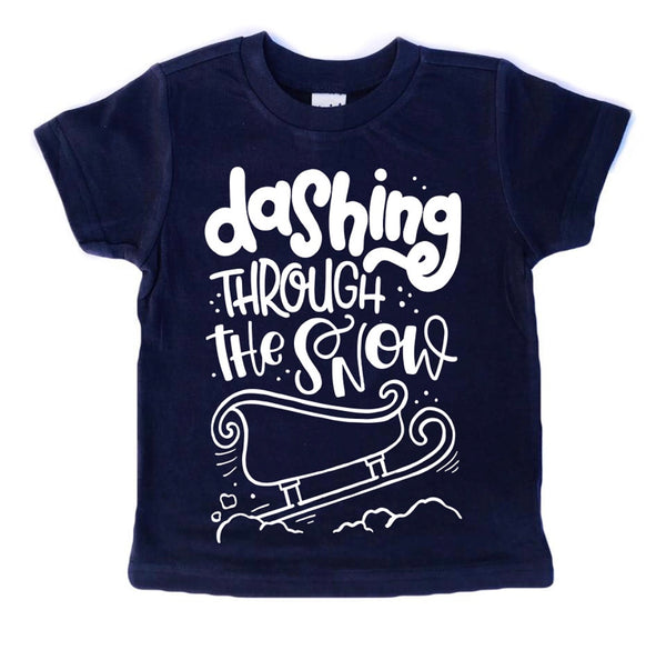 Dashing Through the Snow Christmas tee