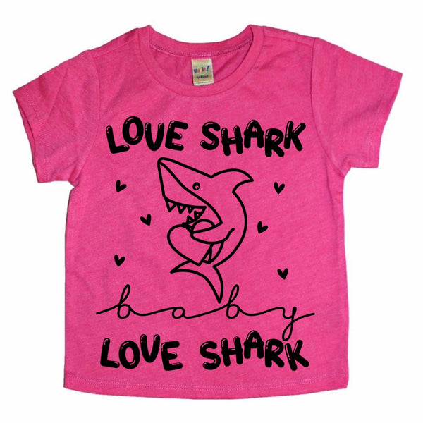 Love Shark Valentine's Day tee