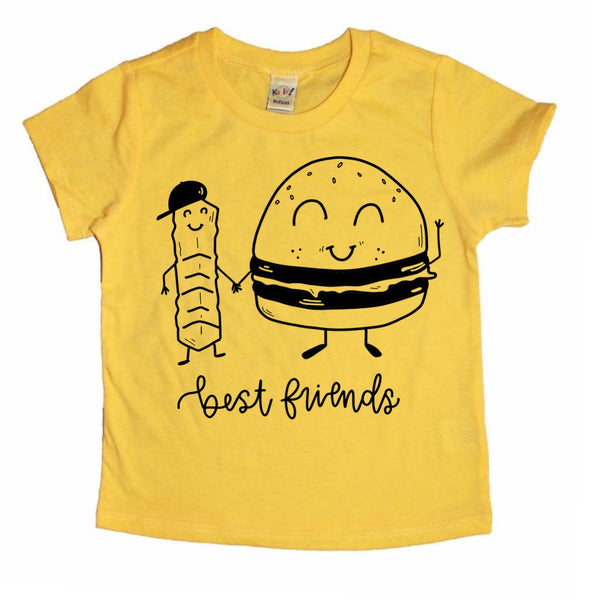 Best Friends-Fry and Burger tee