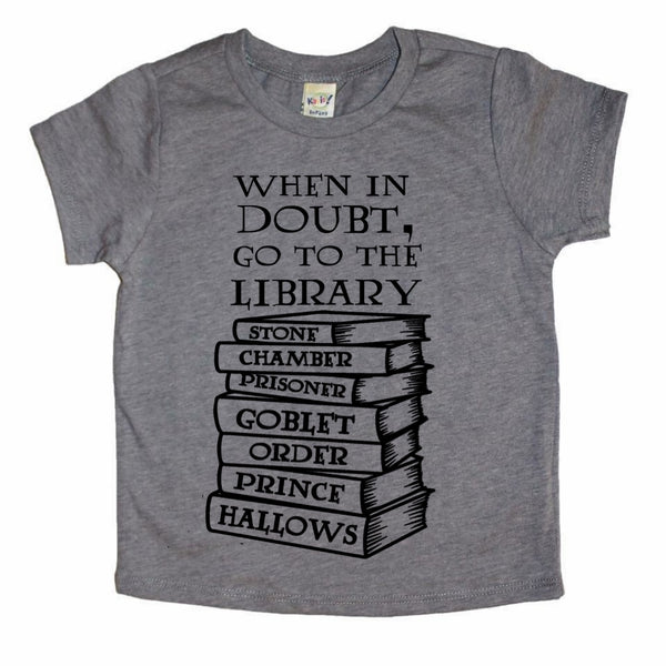 Go To the Library tee