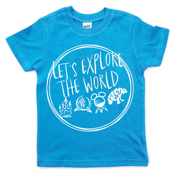 Let's Explore the World tee