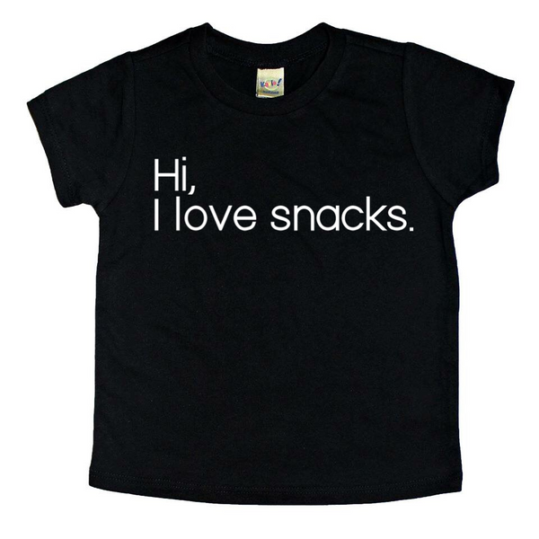 Hi, I Love Snacks tee