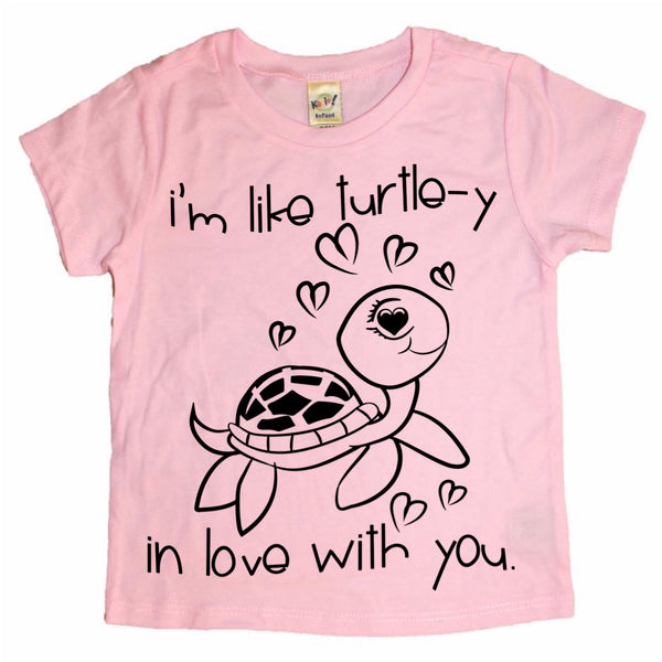 Turtle-y In Love With You Valentine's Day tee