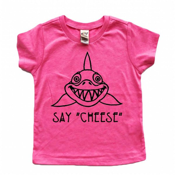 Say Cheese Shark tee