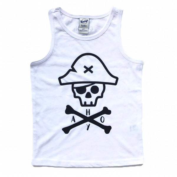 AHOY Pirate Skull tank top