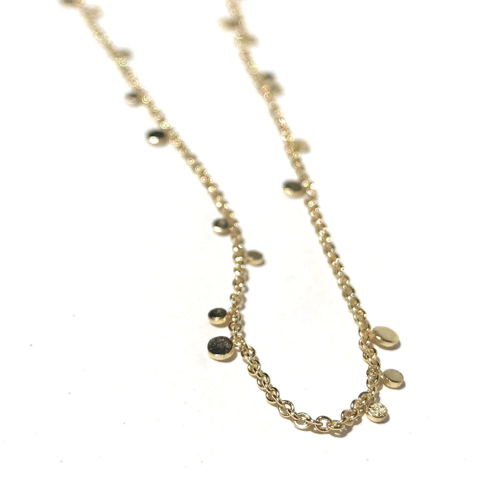 Silver Girl Tiny Dot Necklace