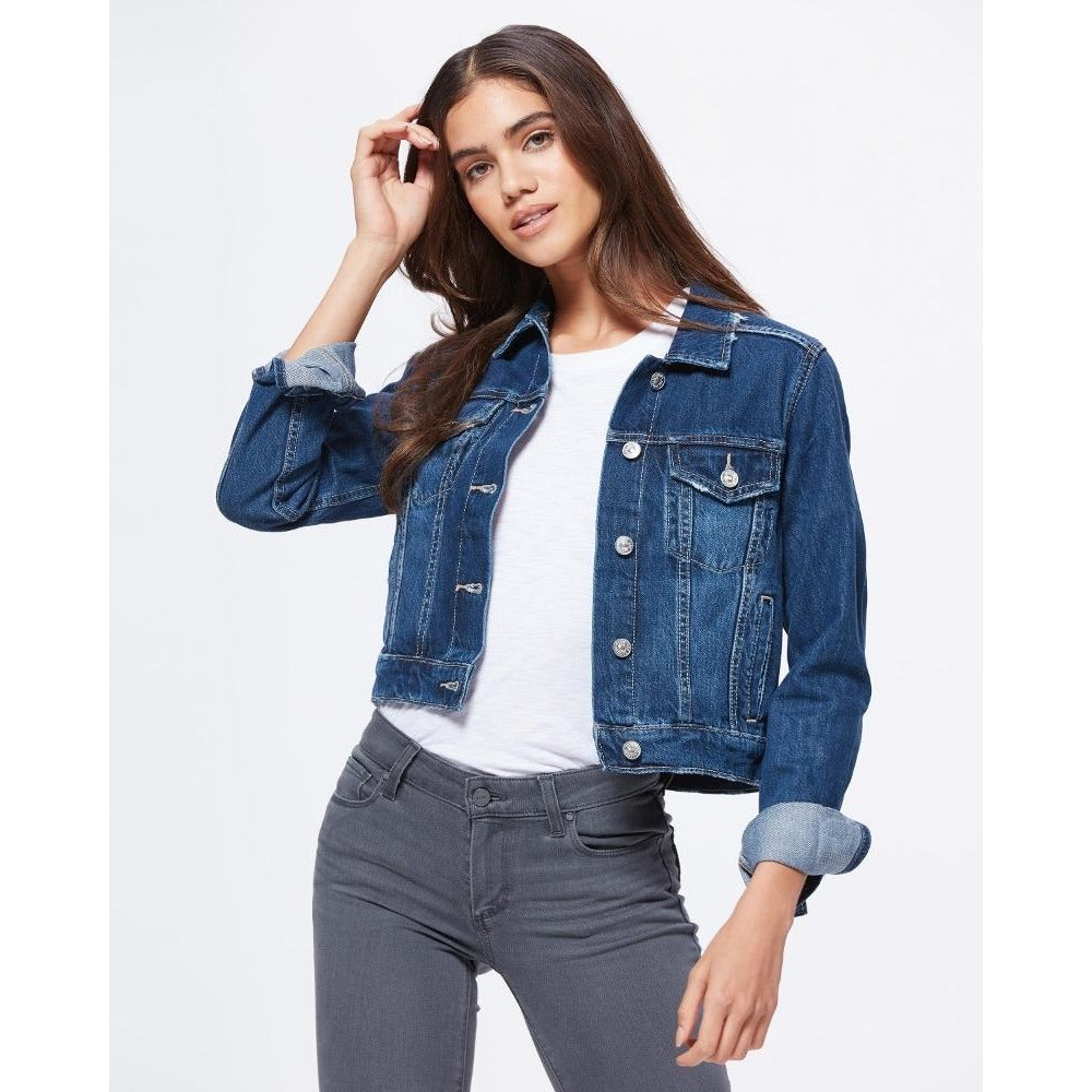 Paige Denim Vivienne Crop Denim Jacket