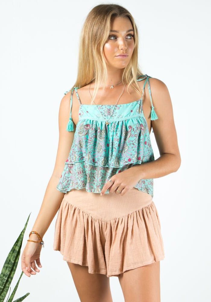 barefoot bohemian goldfinch tie top bluejay