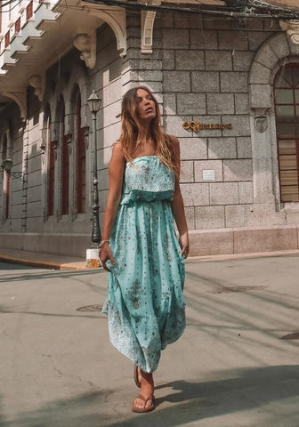 barefoot bohemian siskin frill midi dress blue-2