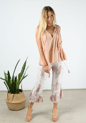 bird print swallow pant natural-1