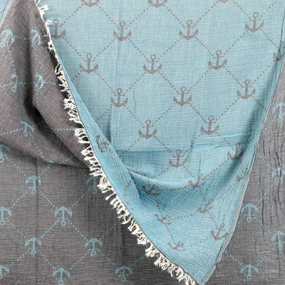 Seabound Coast with Anchor Turkish Towel