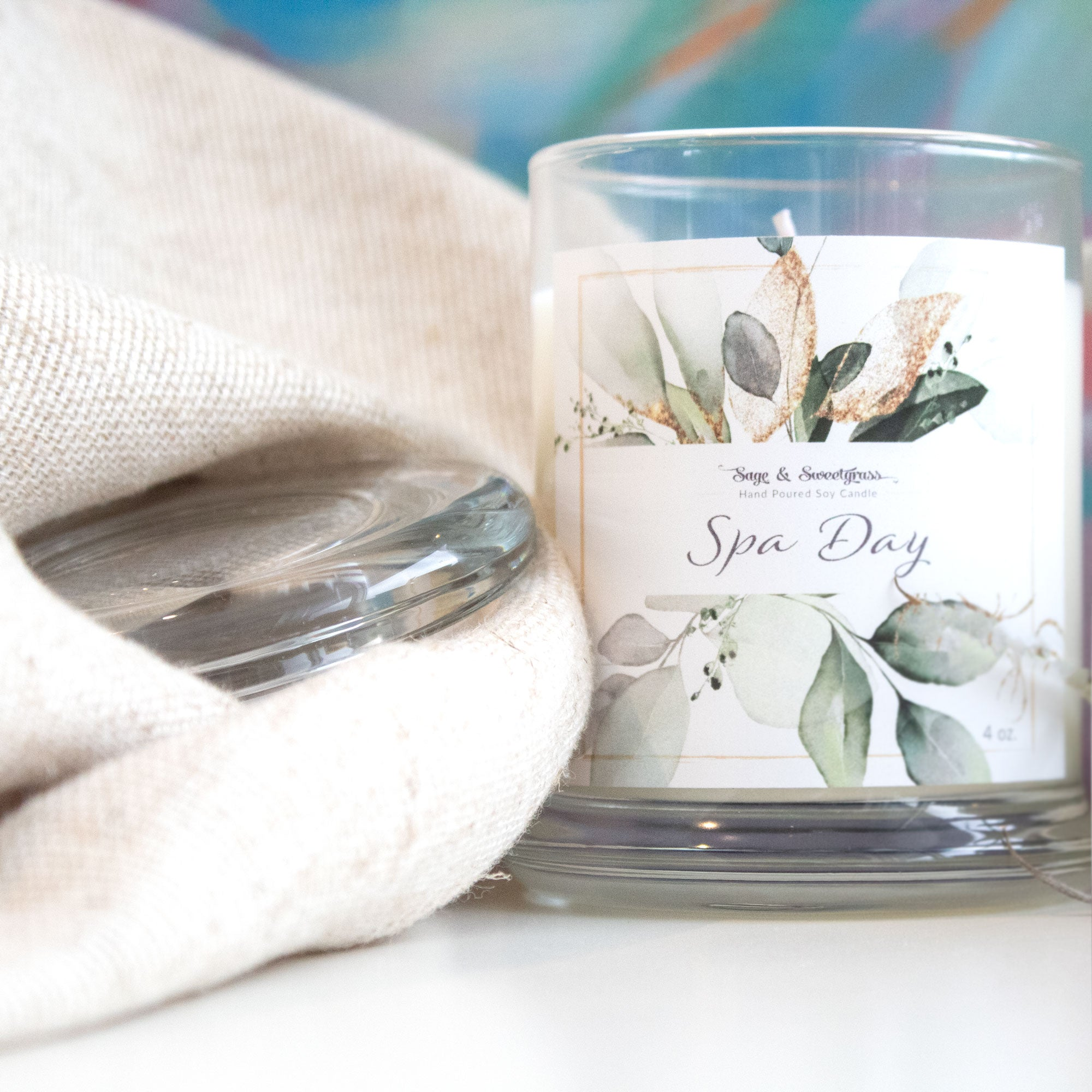 Spa Day  Aromatherapy Candle