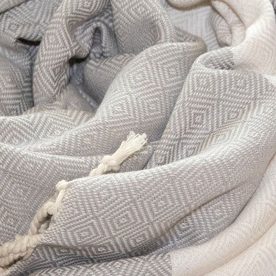 Turkish Towel (Peshtemal) Diamond Pattern