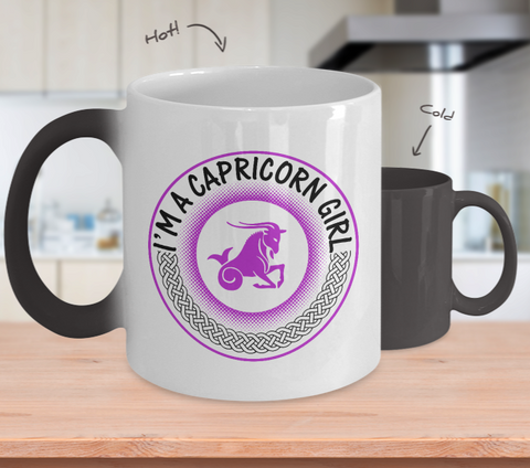 I'M A CAPRICORN GIRL COLOR CHANGE MUG