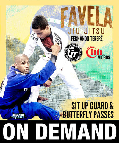 Cover Photo - Favela Jiu Jitsu - Sit Up Guard & Butterfly Passes by Fernando Terere (On Demand)