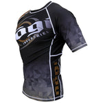 Velox 2018 Competitor Rank Short Sleeve Rashguard White, Blue, Purple, Brown and Black