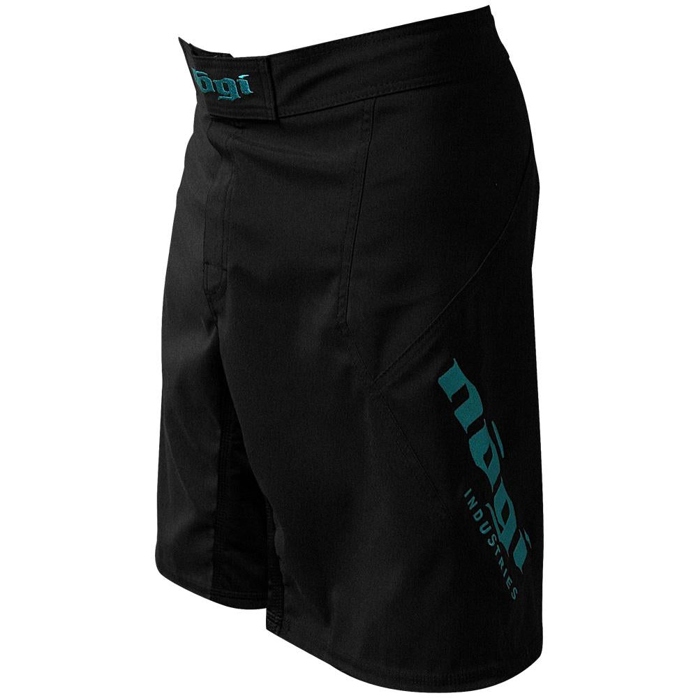 Nogi Industries Phantom 3.0 ファイトショーツ ブラック/ミント  限定版 Phantom 3.0 Fight Shorts - Black/Mint by Nogi Industries - MADE IN USA - Limited Edition