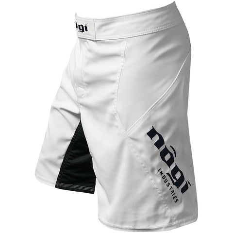 Nogi Industries Phantom 3.0 ファイトショーツ アークティックホワイト 限定版 Phantom 3.0 Fight Shorts - Arctic White by Nogi Industries - MADE IN USA - Limited Edition