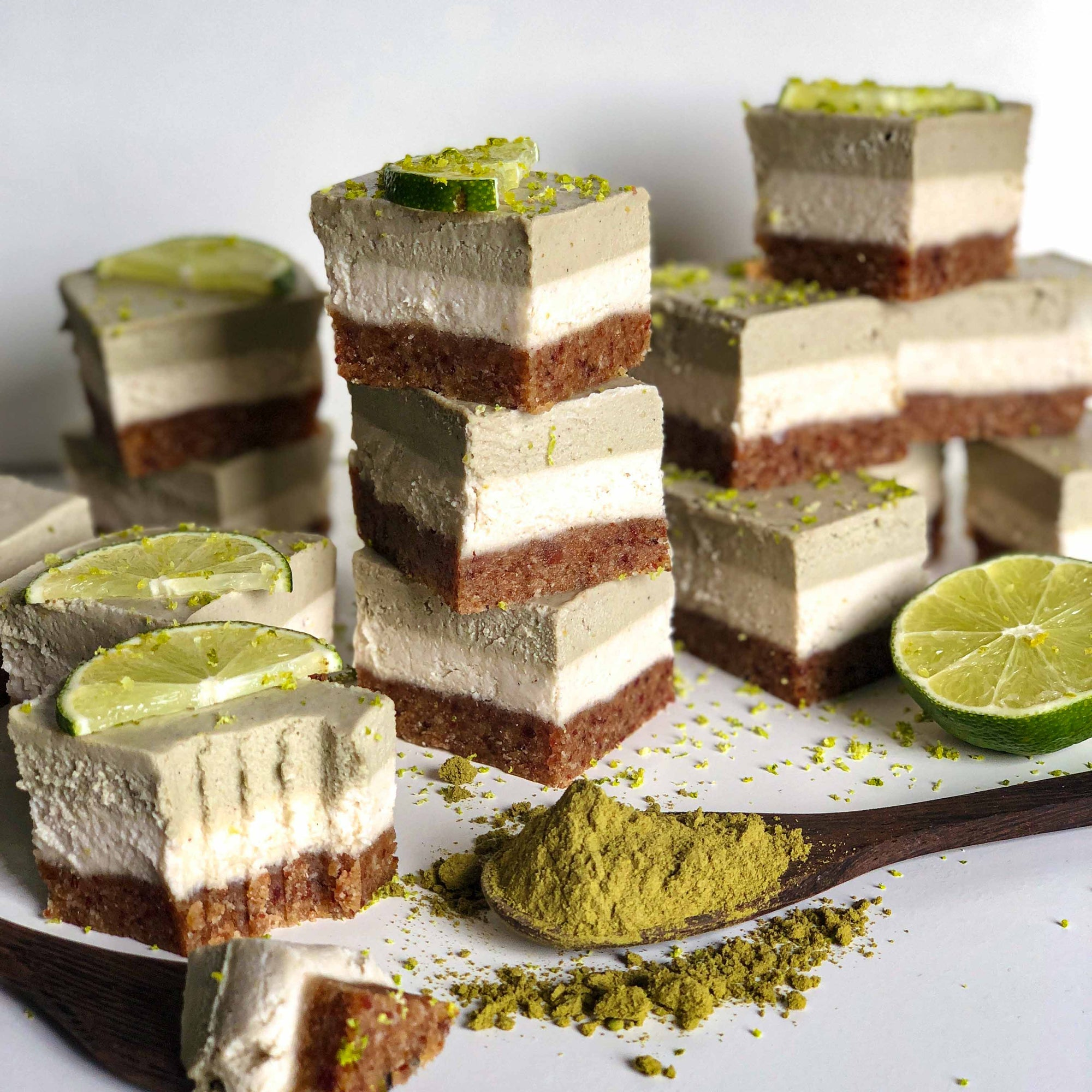 Raw Coconut & Matcha Cheesecake