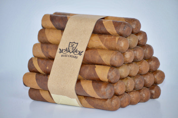 "ROTHSCHILD DOUBLE WRAPPER Bundle 5"" x 50 Filler: Nicaragua - Wrapper: Habana seed/Connecticut - Binder: Ecuador"