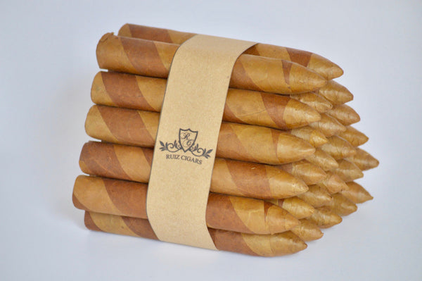 "TORPEDO DOUBLE WRAPPER Bunde 6"" x 54 Filler: Nicaragua - Wrapper: Habana seed/Connecticut - Binder: Ecuador"