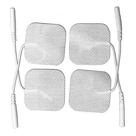 Tens Unit Pads w/ Female Lead Connectors (4 Sets)