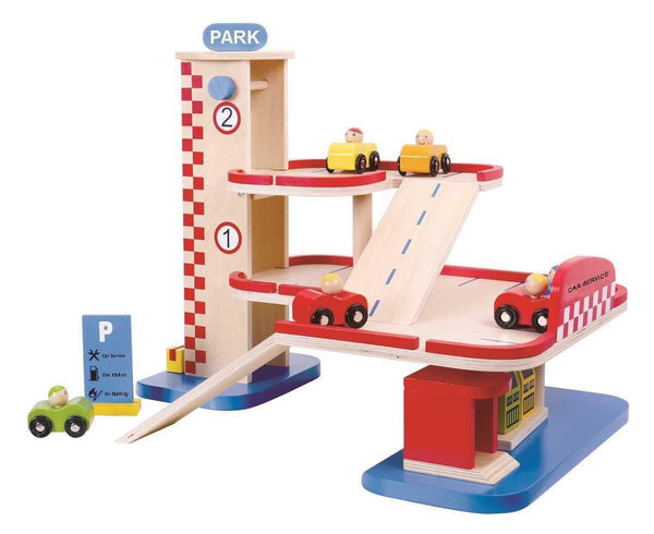 Wooden Garage Set by Tooky Toy