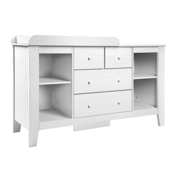 Baby Change Table Dresser Cabinet - White