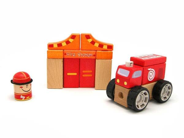 Wooden Fire Station Blocks