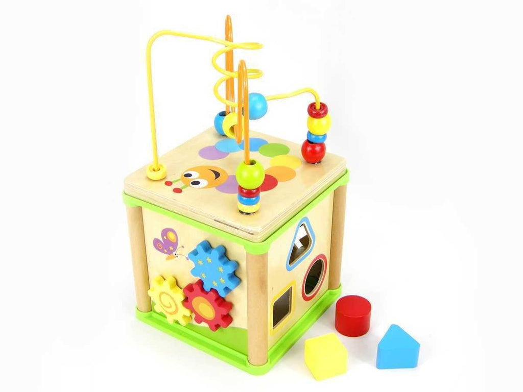 Wooden 5 in 1 Activity Cube