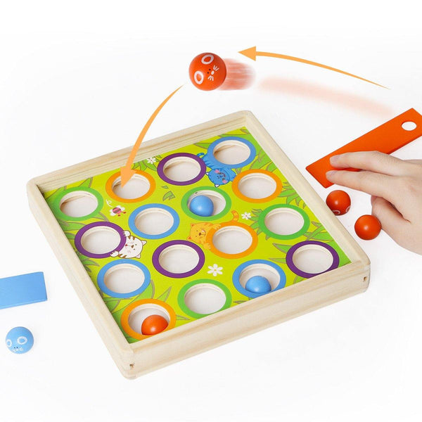 Wooden Mouse Tossing Game by Top Bright