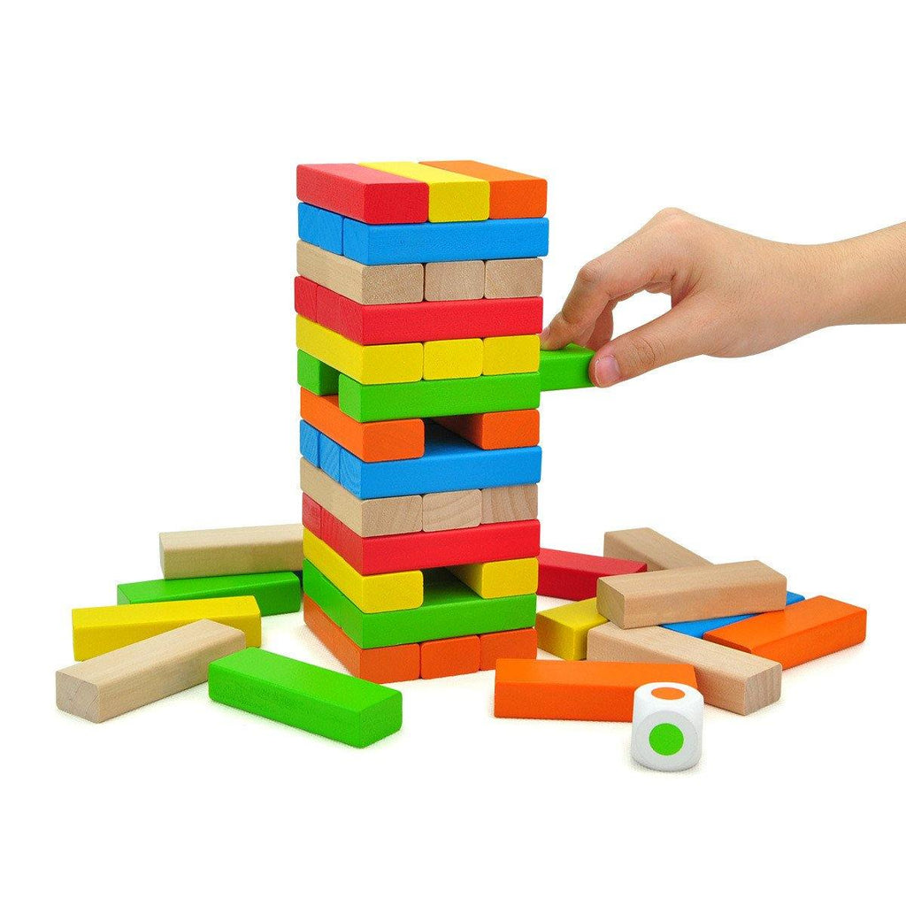 Colorful Wooden Jenga Game