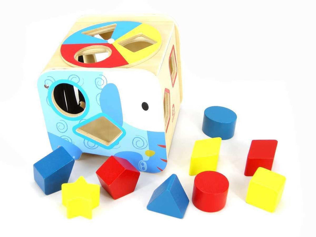 Wooden Elephant Shape Sorter