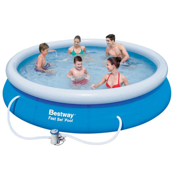 Swimming Pool Set - Bestway Above Ground Fast - Blue