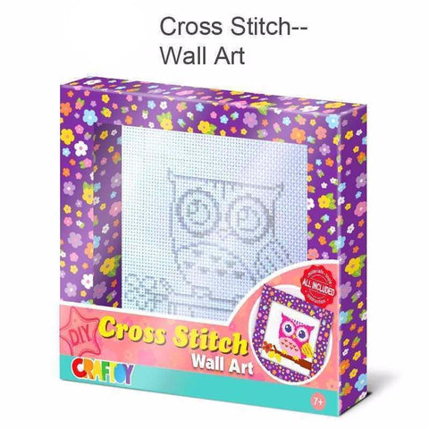 Cross Stitch Wall Art Owl by Craftoy