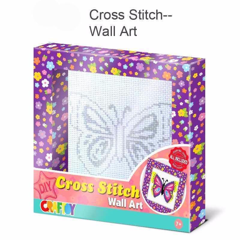 Cross Stitch Wall Art Butterfly by Craftoy