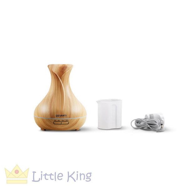 400ml 4-in-1 Aroma Diffuser Light Wood