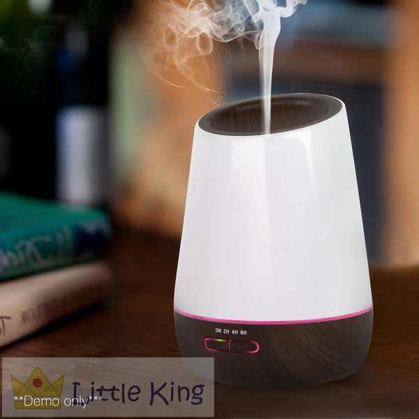 4 in 1 Ultrasonic Aroma Diffuser 500ml - Dark Wood