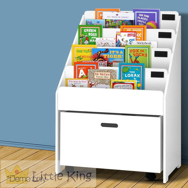 Kids Bookshelf with Drawer White