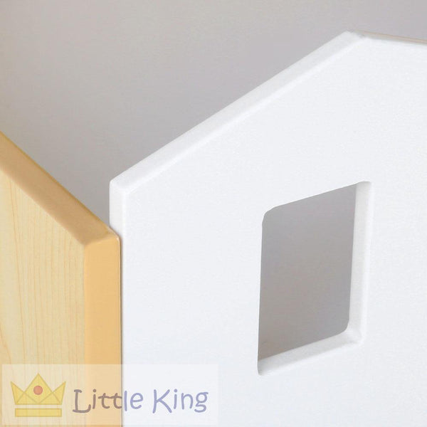 Kids Castle Design Bookshelf White