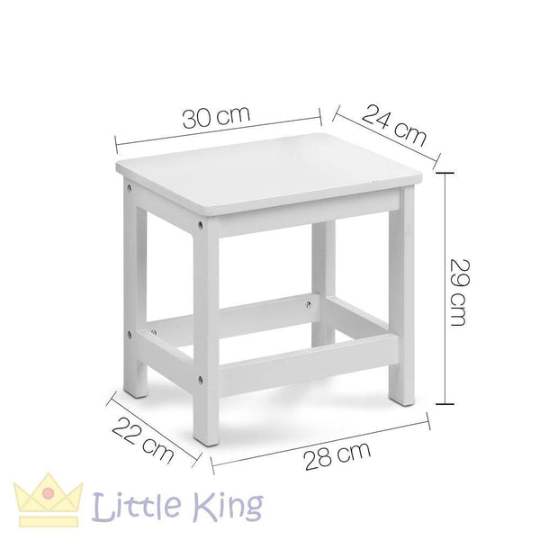 Kids Lift-Top Desk and Stool White